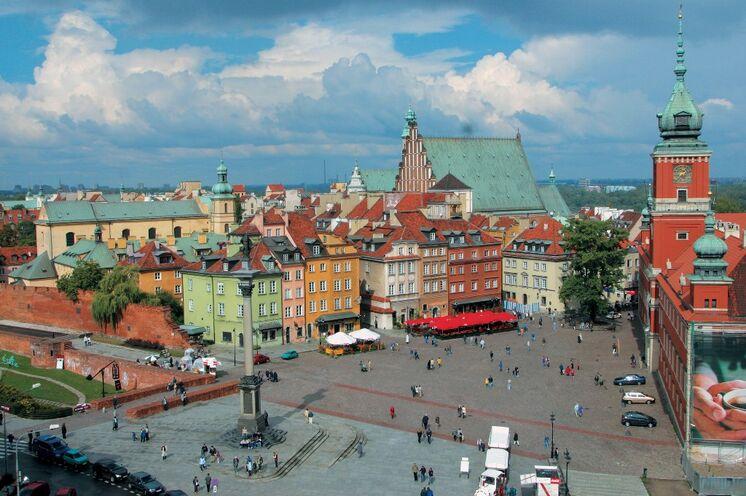 In der polnischen Hauptstadt Warschau ist Start der Radtour