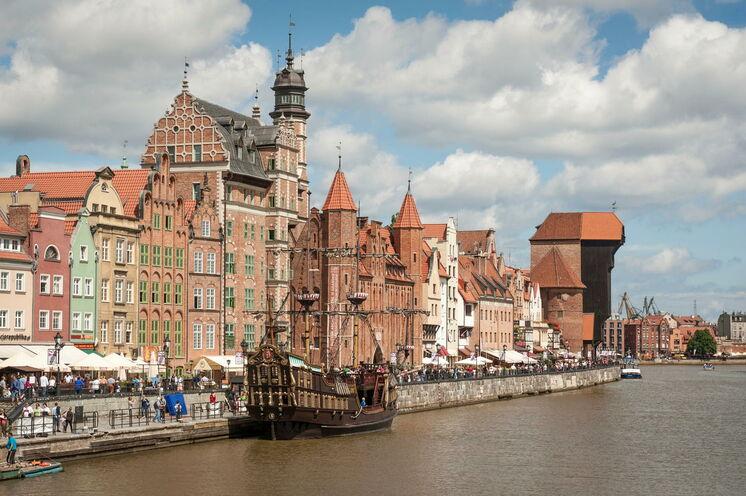 Danzig - die alte Hansestadt - ist ein lohnenswertes Ziel und Endpunkt der Reise