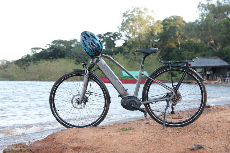 Das Ziel der Fahrradtour ist der Victoriasee.