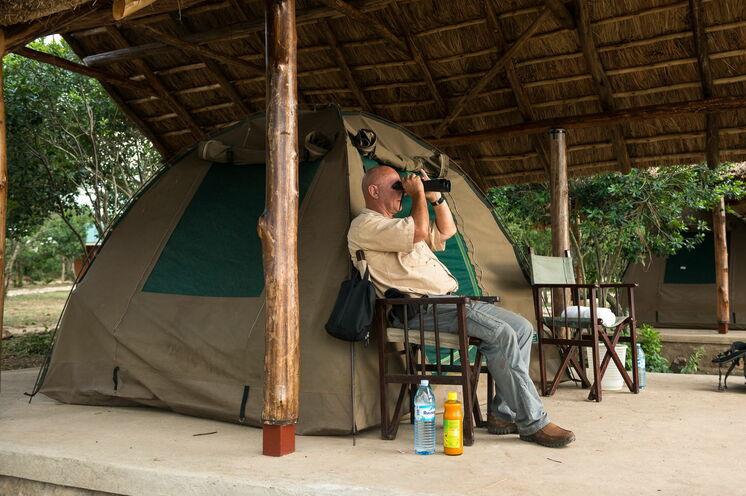 """Beste Sicht vom """"Lazy Camp"""" im Queen Elizabeth NP"""