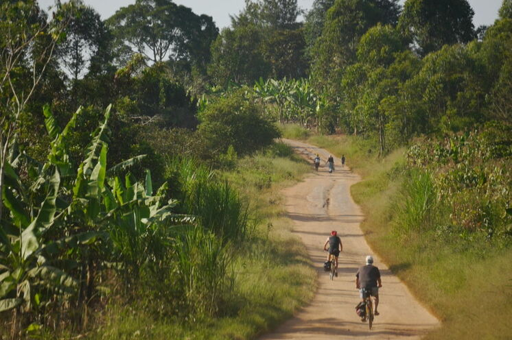 Per Rad geht es auch durch den Mburo Lake NP und von dort aus immer weiter gen Entebbe