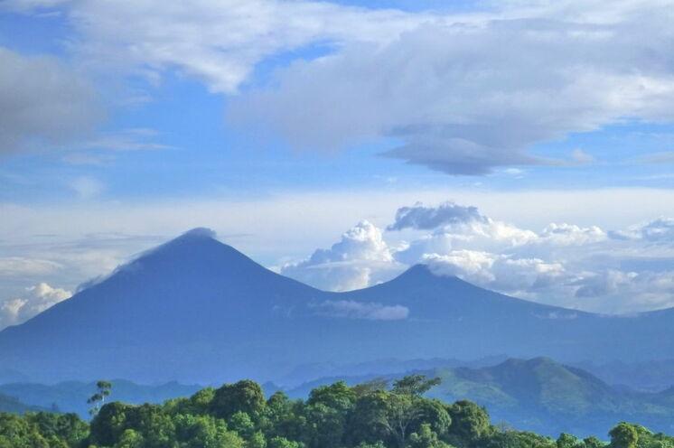 Blick auf die Virunga-Vulkane