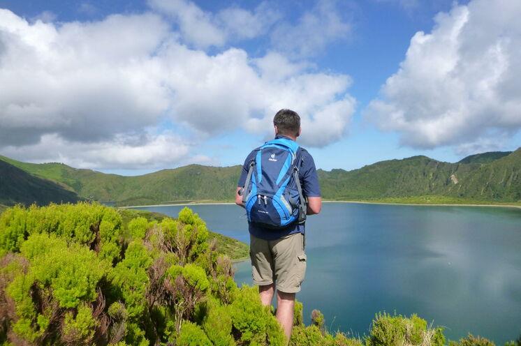 Ebenfalls beeindruckend - er Lagoa do Fogo im Inselinneren und Ziel ihrer zweiten Wanderung