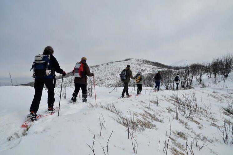 Um das Gelände im Winter zu durchstreifen, sind Schneeschuhe die ideale Ausrüstung