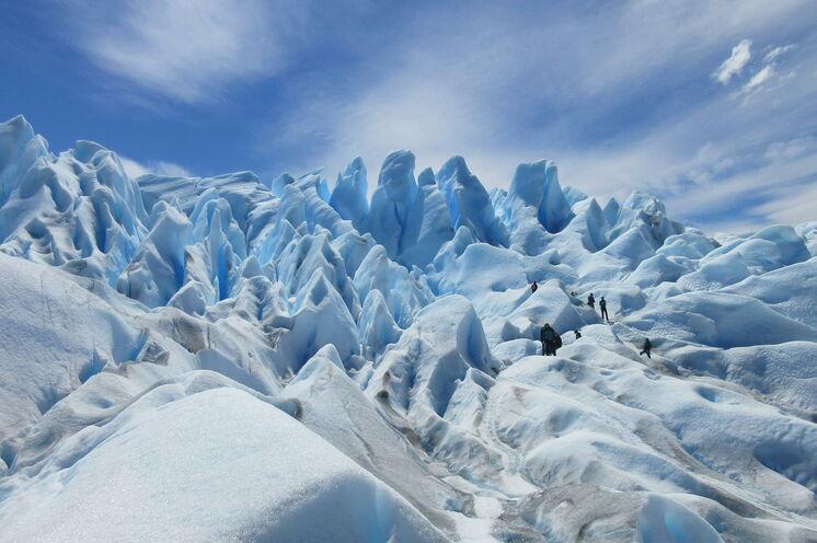 Hautnah erleben Sie den noch wachsenden Perito-Moreno-Gletscher