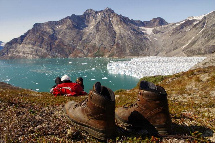 Im Einklang mit der Natur am Knud-Rasmussen-Gletscher
