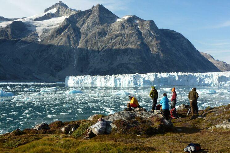 Blick auf den Knud-Rasmussen -Gletscher