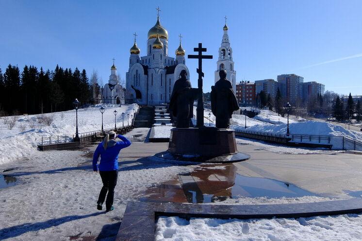 Khanty Mansijsk - natürlich geprägt auch durch eine russisch-orthodoxe Kirche.