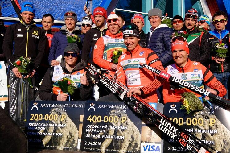 Als Gewinner des Rennens sahnte Toni Livers aus der Schweiz gut ab: 400 000 Rubel!