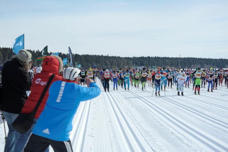 Start zum 50 km FT Ugra Ski Marathon - ein begehrter Russialoppet. Von 2015 bis 2017 Euroloppet-Rennen!