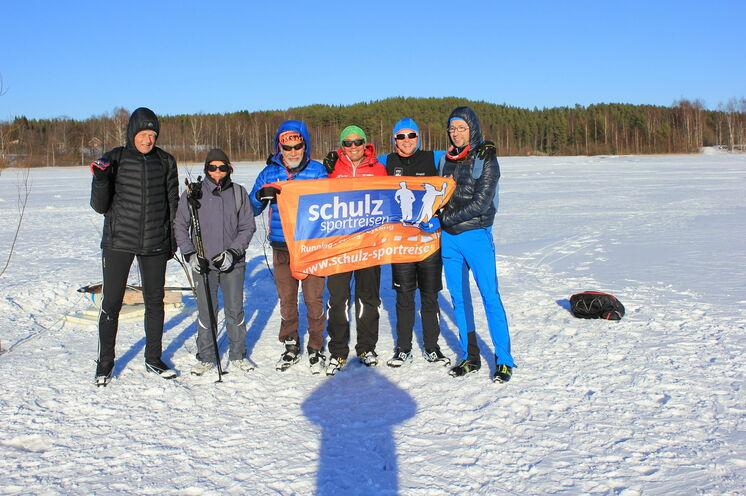 2017 während unseres Ausfluges zum Eisangeln