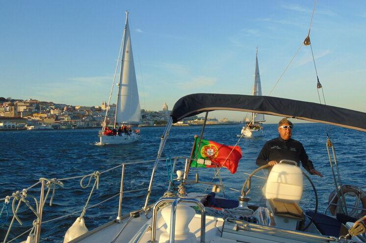 Mit Skipper Pedro auf dem Tejo