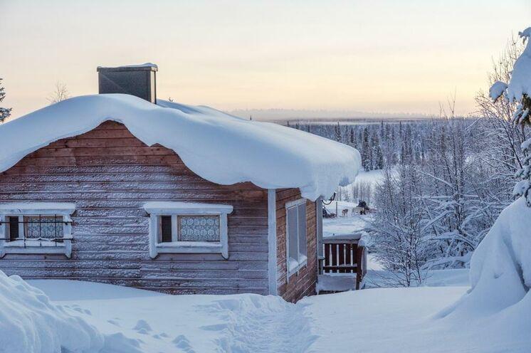 Die Hütten liegen idyllisch mitten im Wald, weit weg von Lärm und Gewusel