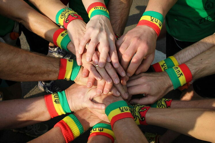 Beim Great Ethiopian Run geht es eindeutig darum, gemeinsam viel Spaß zu haben