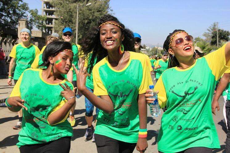 Ausgelassene Stimmung beim Great Ethiopian Run - Ein unvergessliches Erlebnis!