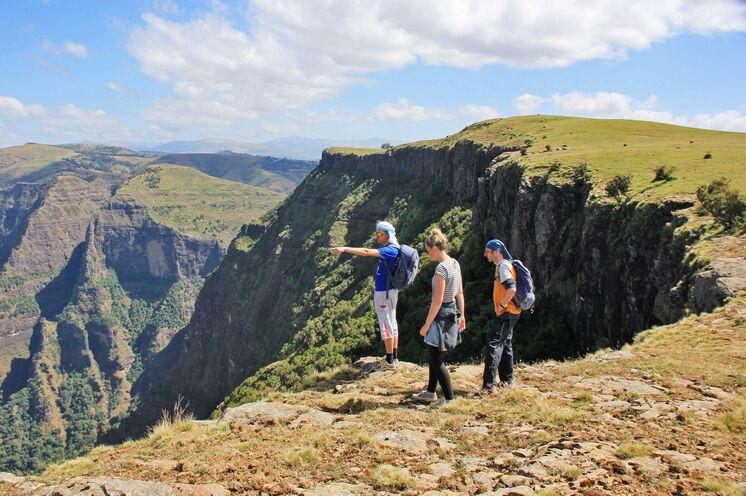 Atemberaubende Ausblicke bekommen Sie auch während der Trekkingtour im Simien Nationalpark