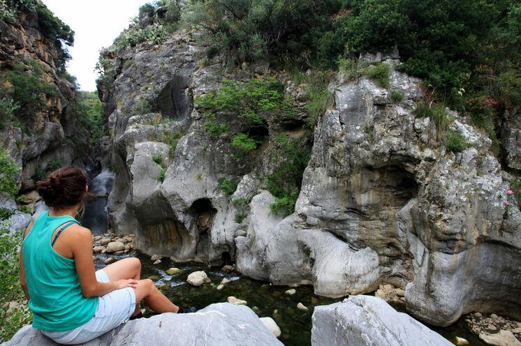Tiberio-Schlucht - Kulisse für eine abenteuerliche Flusswanderung