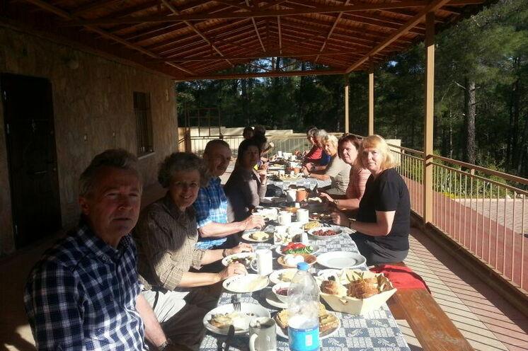 Beim Frühstück auf der Großen Terrasse