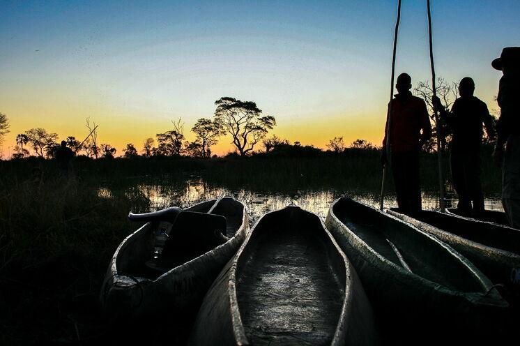 In Botswana erwarten Sie grünere, feuchtere Landschaften. Im Mokoro geht es für zwei Tage ins Okavango-Delta.