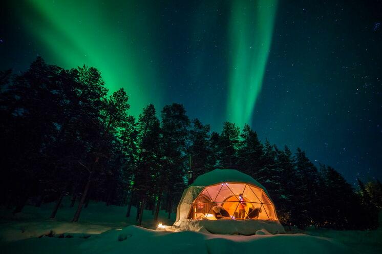 Eine Nacht zum Träumen im Aurora-Zelt...