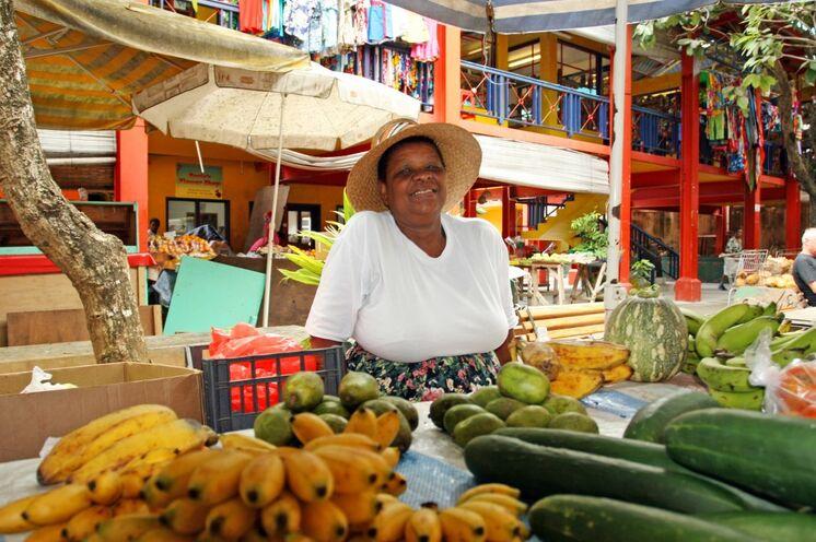 Farben, Düfte und Genüsse auf dem Markt in Victoria
