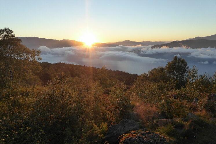 Sonnenaufgang über den Sognefjord