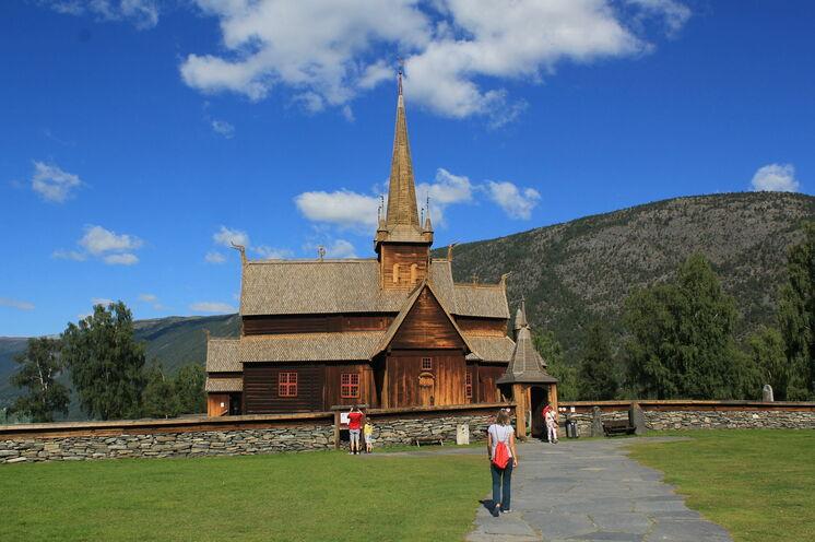 Die Stabkirche in Lom aus dem 12.Jahrhundert