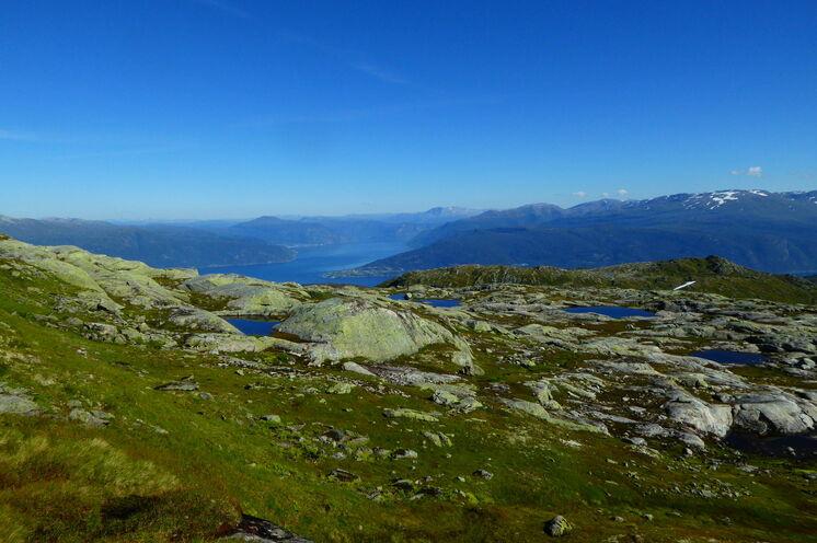 Wanderung hoch über dem Sognefjord
