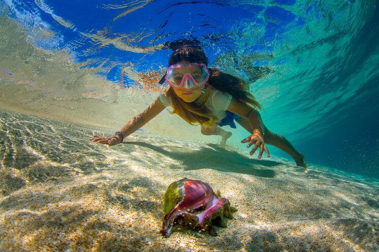 Die Ihrer Unterkunft vorgelagerte Lagune bietet exzellente Bade-, Schnorchel- und Tauchmöglichkeiten
