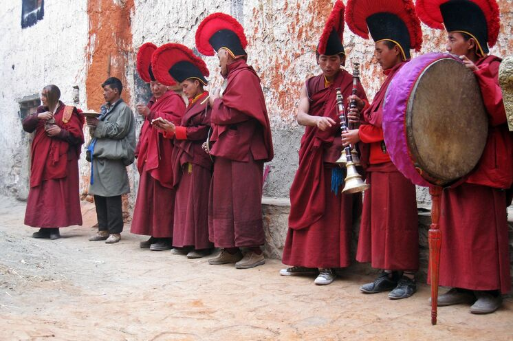 Puja Zeremonie in Lo Manthang