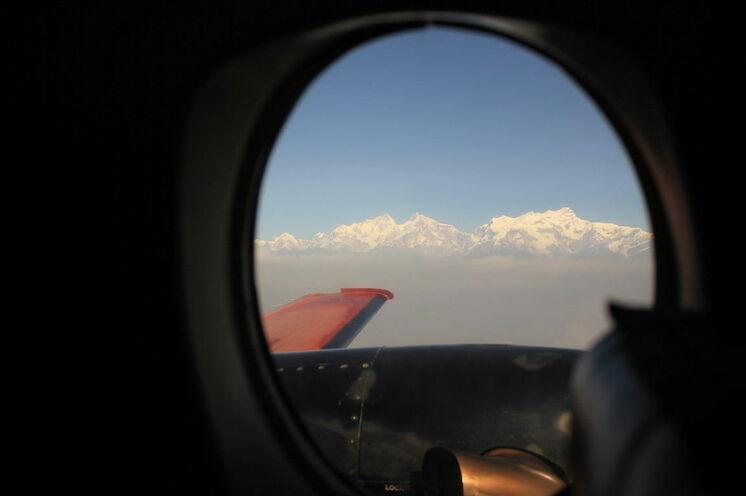 Rückflug von Pokhara nach Kathmandu mit schönem Ausblick