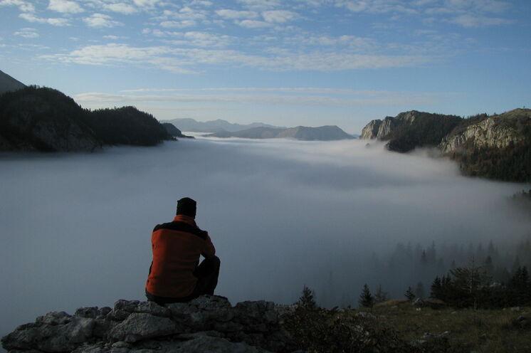 Über den Wolken – im  Nationalpark Sutjeska