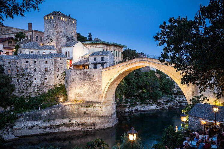 Abendstimmung in Mostar