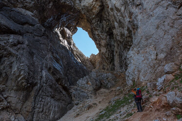 Das größte Felsenfenster der Alpen