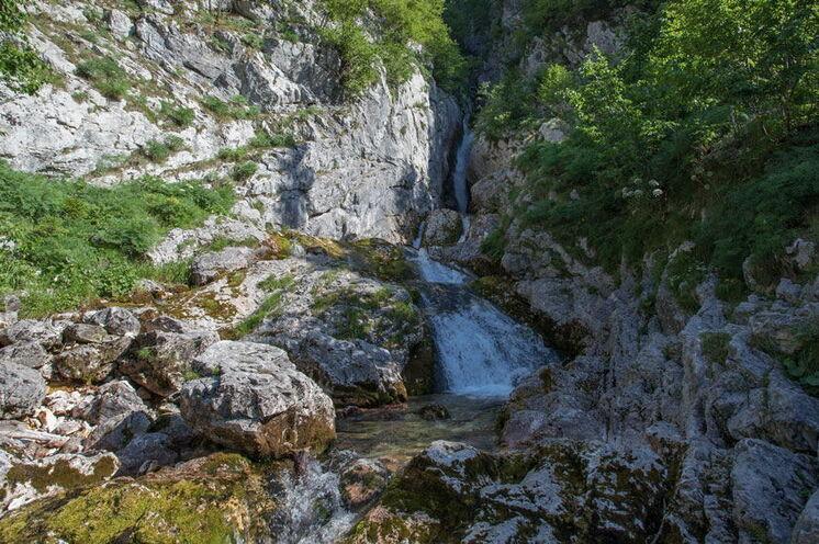 Die Soča-Quelle, ein Juwel der Natur