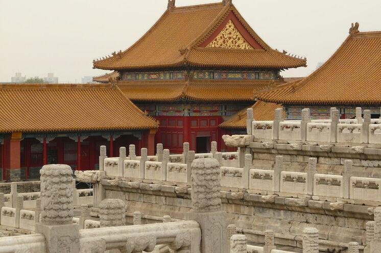 Eines der Highlights von Peking ist der ehemalige Kaiserpalast in der verbotenen Stadt.