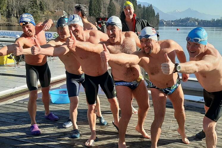 Die Winterschwimmer sind schon irgendwie verrückt