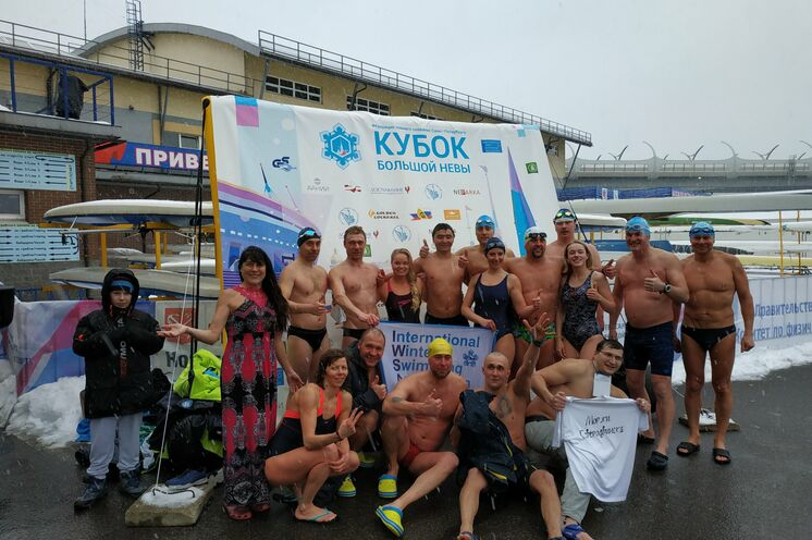 ... und gemeinsam mit den St. Petersburger Eisschwimmern