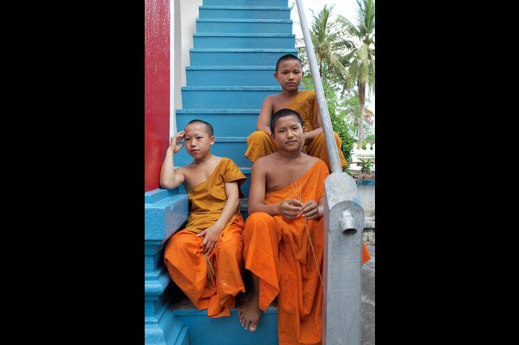 In Luang Prabang erkunden Sie die hübsche Stadt per Rad