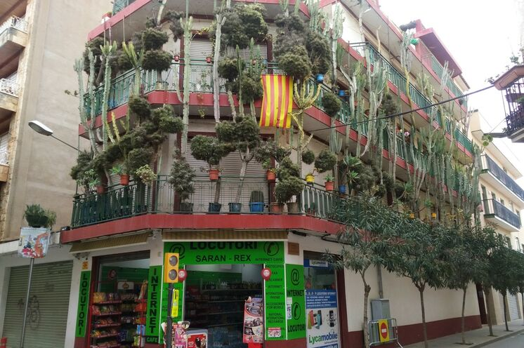 Die Innenstadt selbst ist im Februar recht beschaulich. Katalanisch kreative Eigenart dennoch an vielen Ecken.