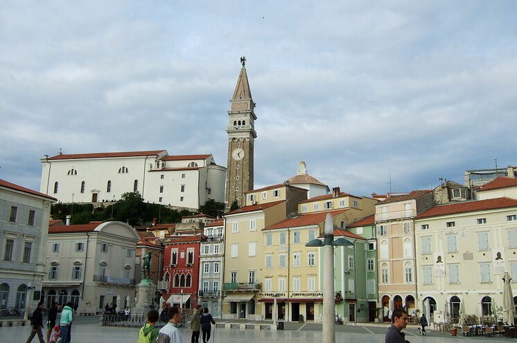 Der Piazza von Piran