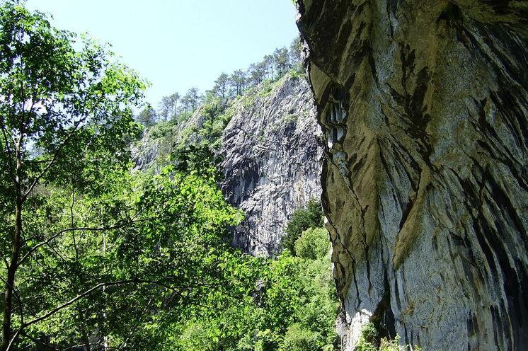 7. Tag Wanderung um und in der Höhle Skocjan