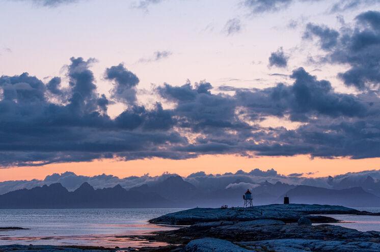 Abendlicher Blick auf die Lofoten