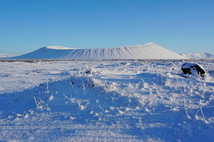 Der Explosionskrater Hverfjall ist eine der Wanderoptionen auf dieser Reise.