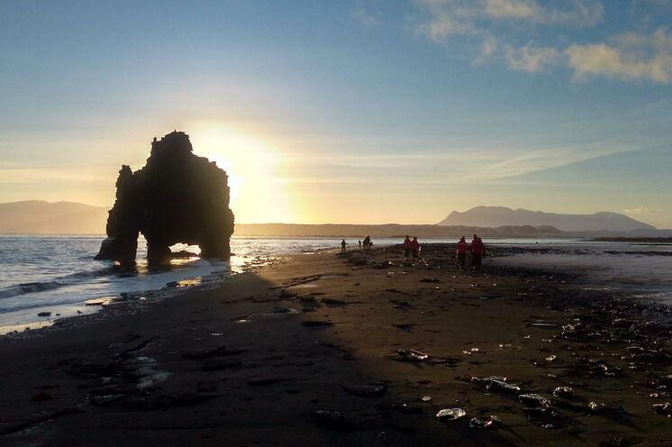 Ein Strandspaziergang im Winter hat seinen ganz eigenen Reiz.