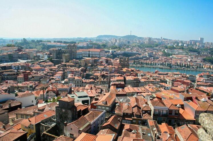 Blick über die Dächer von Porto