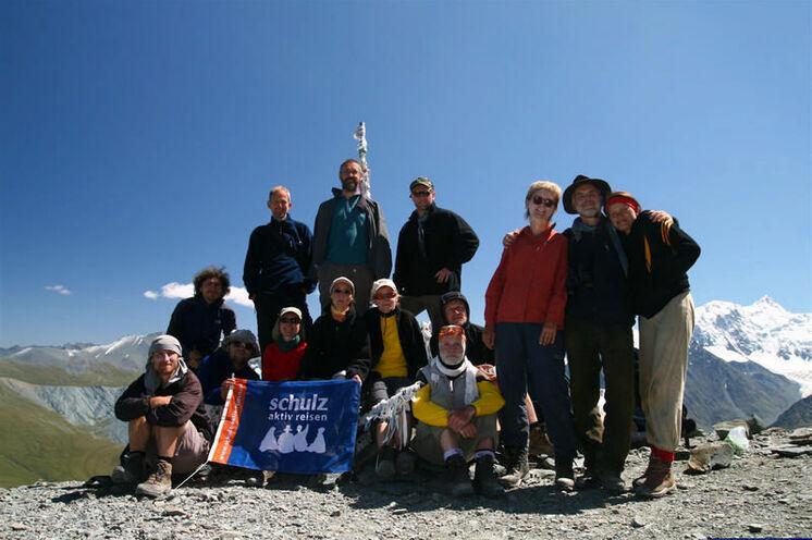 Und so sieht der höchste Punkt Ihres Trekkings, der Pass Kara-Tjurek (3060m), bei Königswetter aus.