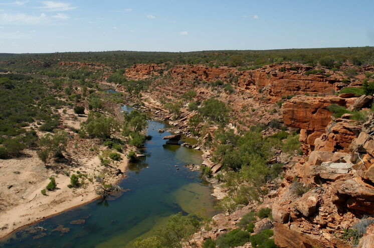 Flusslandschaft des Murchison River im Kalbarri-Nationalpark