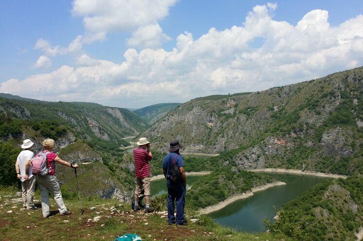 Wanderung am See Uvac