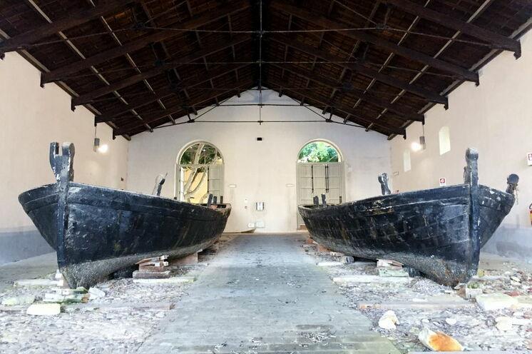 Die berühmten Thunfischkäne auf Favignana